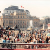 April 1, 1990<br /> London, England<br /> Canadian embassy, Trafalga Square (?)<br /> (view from tour bus)