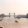 April 1, 1990<br /> London, England<br /> Tower Bridge (view from London Bridge from tour bus).