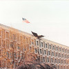 April 1, 1990<br /> London, England<br /> American embassy (from tour bus)