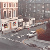 March 31, 1990<br /> London, England<br /> London Visitors Hotel<br /> view out of front window of our room on 3rd floor