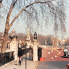 April 1, 1990<br /> London, England<br /> road by the side of Buckingham Palace.