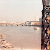 April 1, 1990<br /> London, England<br /> view of London Bridge (from the Tower Bridge on a tour bus).