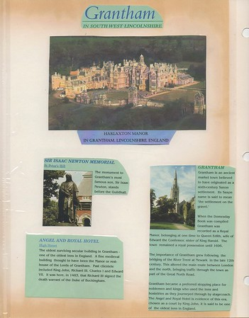 My college was located in Grantham, England.