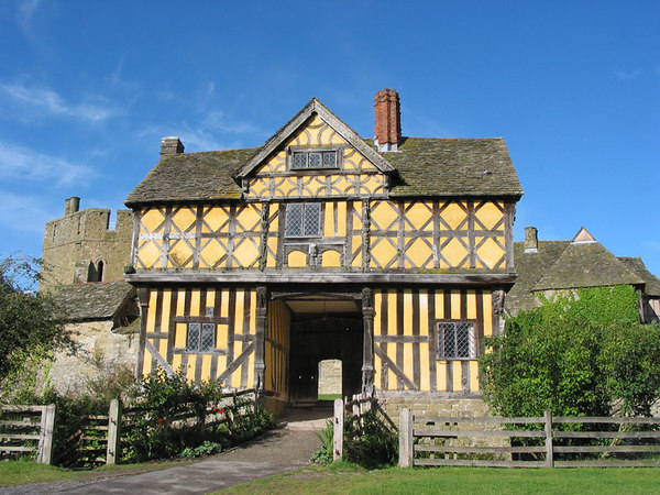 The entrance to Stokesay castle, near Ludlow.