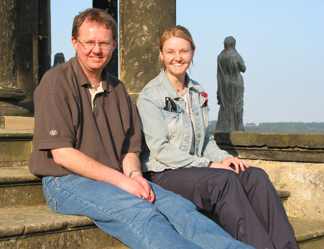 John and Vicki, Temple of the Four Winds, Castle Howard.