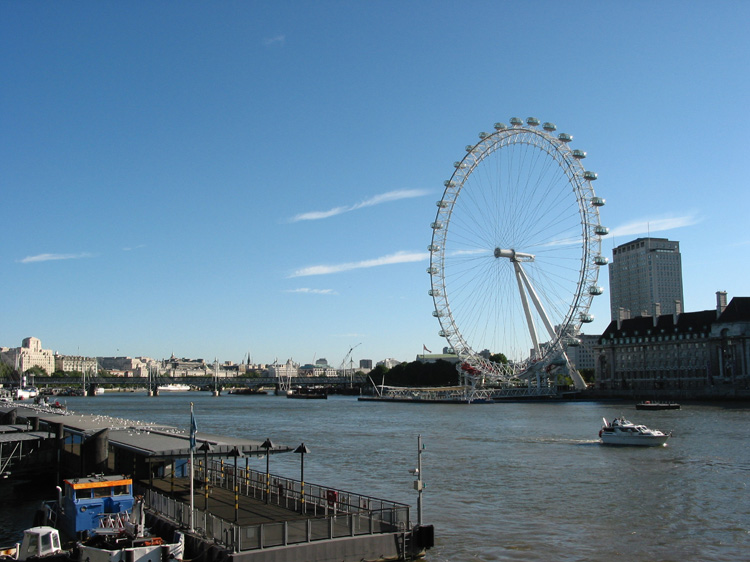 London, the river Thames and The London Eye, from Westminster Bridge