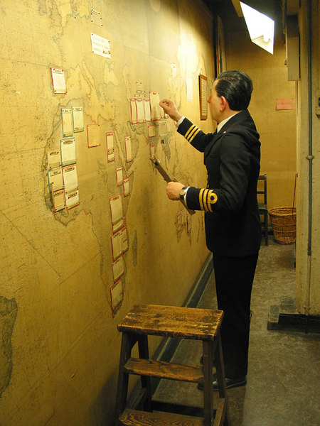 Convoy Map, Map Room, Cabinet War Rooms, London