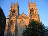 York -- a late afternoon view of York Minster.  This is the largest Gothic Church north of the Alps.