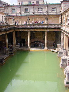 The main pool at the Roman Baths.