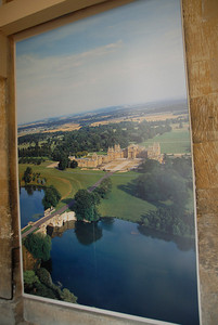 The best view of the day of the palace and grounds, thanks to the rain, came from this poster outside the gift shop.