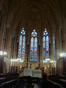 Inside the chapel of Exeter College.