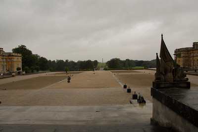 The front garden of Blenheim Palace.