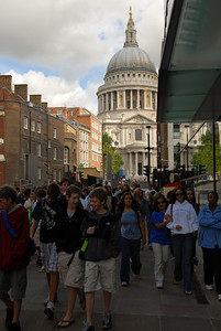 Looking back at St. Paul's Cathedral.