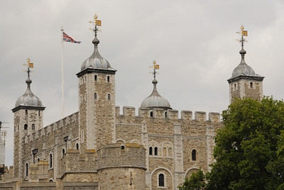 The White Tower inside the Tower of London.