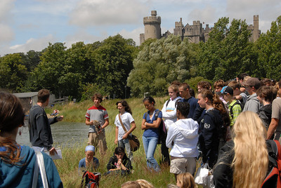 After eating lunch along the river Arun, Matthew gave us a little background on the castle in the background.