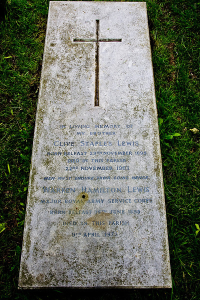 Note that this isn't only C.S. Lewis' grave, but also that of his brother, Warnie.