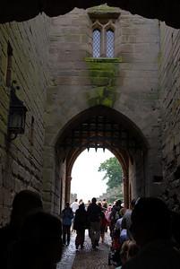 Entering Warwick Castle.