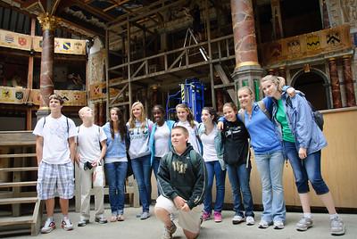 The Summit School group at Shakespeare's Globe Theatre