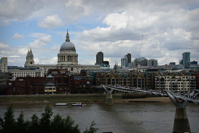 St. Paul's Cathedral and the Millennium Bridge from the Tate Modern