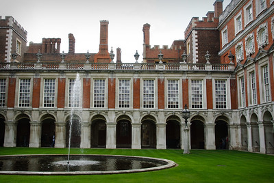 At the Hampton Court Palace