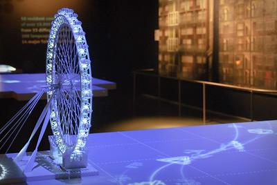 Model of the London Eye inside the Museum of London