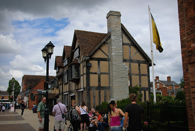At Shakespeare's birthplace in Stratford-upon-Avon