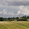 Looking back toward Chipping Campden.  St. James Church and the remains of the banqueting hall on right of picture.