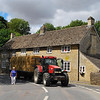 On our way to Chipping Campden to begin our walk we were held up by a little accident: several large hay bales were spilled into the road, blocking traffic in Glympton. The problem was soon corrected and we were on our way.<br /> July 21, 2010