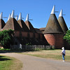 Oast houses at Sissinghurst.<br /> Ventilators at top promote the drying of hops.<br /> photo made July 10, 2010