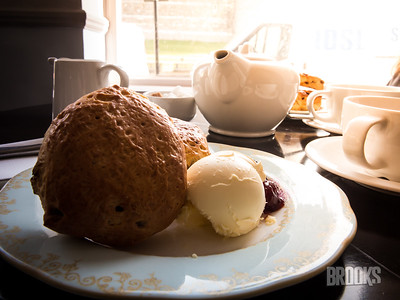 tea and scones with clotted cream.. .with a view of Windsor castle.  It was a great way to start the day!