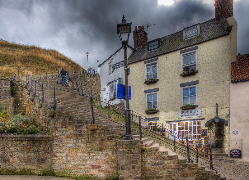 Steps to Whitby Abbey