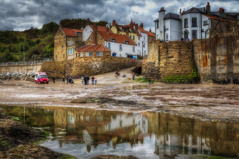 Robin Hood's Bay Sea Front At Low Tide