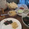 Dinner at the Indian restaurant, Swadesh, Portland Street, Manchester.
