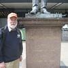 Robert Stephenson statue outside Euston Station.