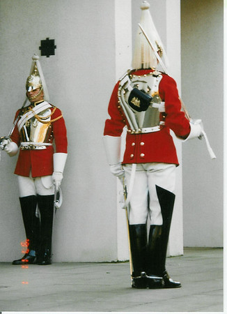 England- Central London, changing of the guards, blues and royals (dragoons)