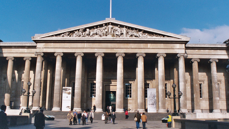 This is the entrance to the famed British Museum.  We took the Tottenham Court Rd. Station exit to get to the museum.
