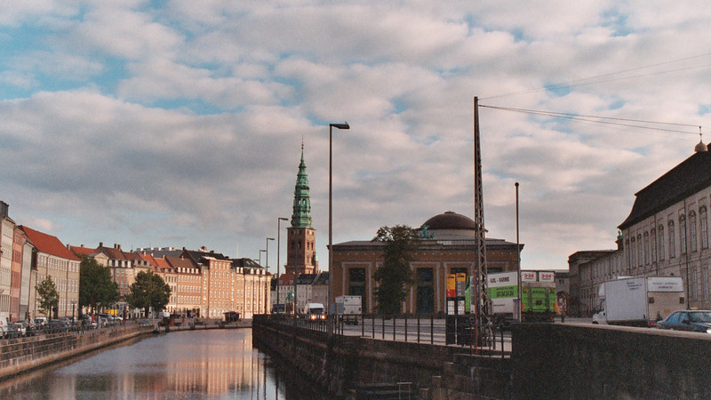 The day started early, which this shot of the Thorvaldsens Museum a Danish art and sculpture museum.  In the distance are the spires of Christiansborg Palace, the seat of the Danish Parliament.