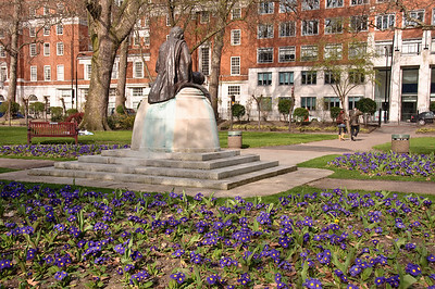 The Ghandi statue in Tavistock Square.