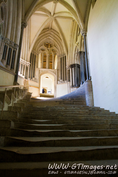 Wells cathedral - Steps worn over the centuries...