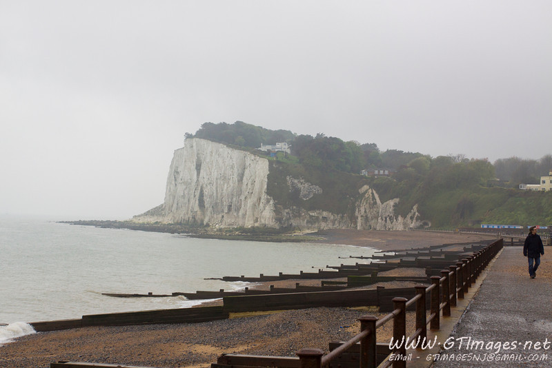 White cliffs of Dover as seen from St. Margaret's Bay.