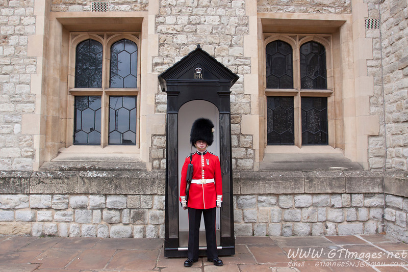 Tower of London - guarding the crown jewels.