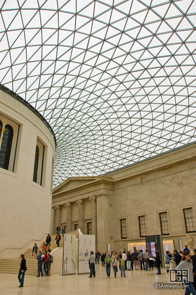 The roof of the Great Court in the British Museum