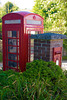 Post box and Telephone booth at Doccombe