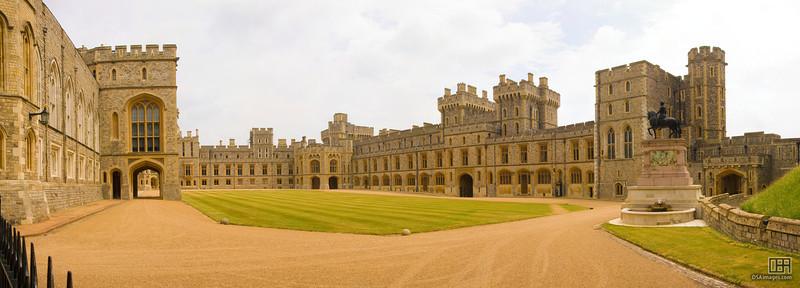 The Upper Ward in Windsor Castle