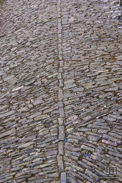 Cobble stoned road at Spreyton