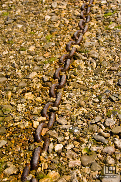 Boat chain near St Just in Roseland