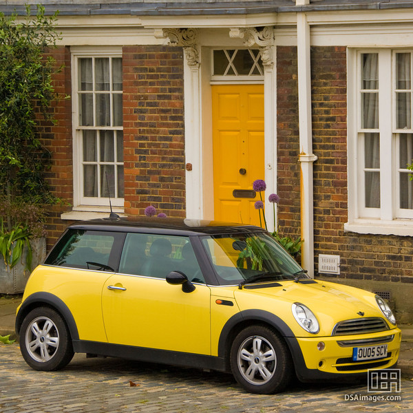 The car was chosen to match the house...