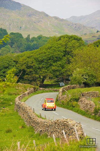 Winding road near Coniston Water, Lake District