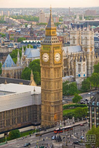 Big Ben, seen from the London Eye