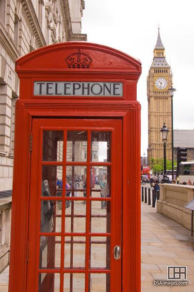 Telephone box near Big Ben